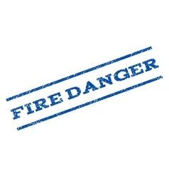 Fire Danger Watermark Stamp vector