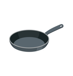 frying pan isolated kitchen utensils for cooking vector image