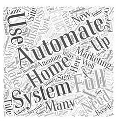 Full Automation Word Cloud Concept vector