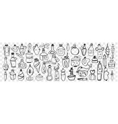 glass containers hand drawn doodle set vector image