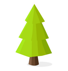 green christmas tree with heavy dark brown trunk vector image