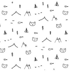 hand drawn funny pattern background vector image