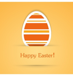Happy easter attach sticker vector image