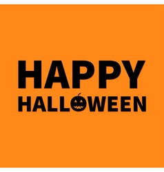 Happy Halloween Lettering text banner with smiling vector