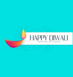 Hindu happy diwali festival banner design vector