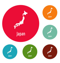 japan map in black simple vector image