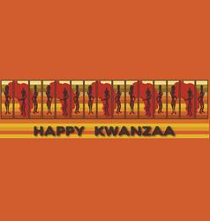 Kwanzaa banner vector