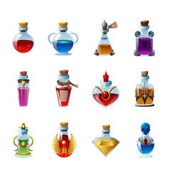 Magic potion realistic set vector