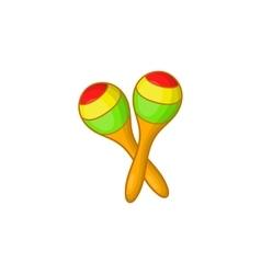 Maracas icon cartoon style vector