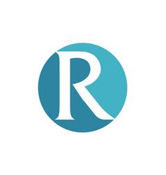 modern solution letter r vector image