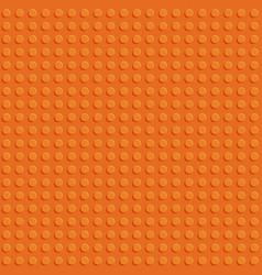 Orange plastic construction block plate seamless vector