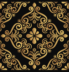 Ornamental luxury pattern design golden color on vector