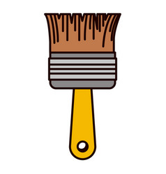 paint brush icon colorful silhouette vector image vector image
