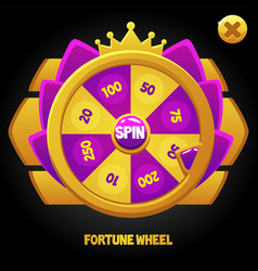 Purple spin wheel for game vector