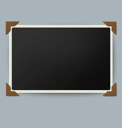Retro photo frame with straight edges vector image