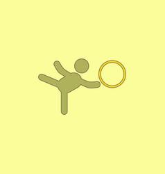 Rhythmic gymnastics design vector