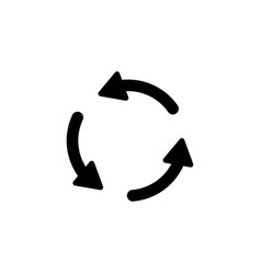 rotate arrows icon signs and symbols can be used vector image