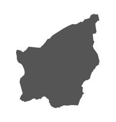 san marino map black icon on white background vector image