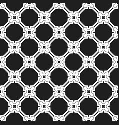 seamless black and white pattern in arabian vector image