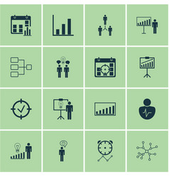 Set 16 administration icons includes decision vector