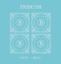 set monogram letter b vector image