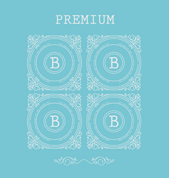 set of monogram letter b vector image