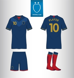 Set of soccer or football kit template vector