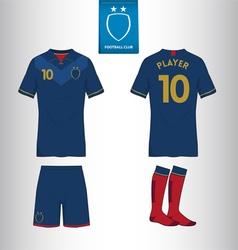 Set soccer or football kit template vector