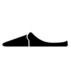 side view of a sandal vector image