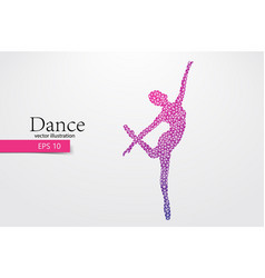 Silhouette of a dancing girl from triangle dancer vector