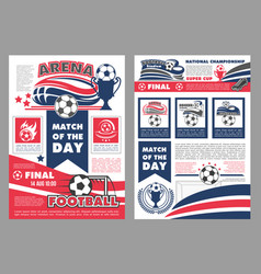 soccer football match posters vector image