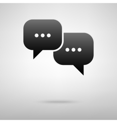 Speech bubble black icon vector image