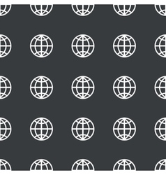Straight black globe pattern vector