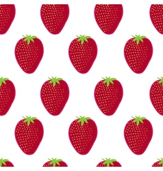 Strawberry seamless pattern Strawberry on white vector
