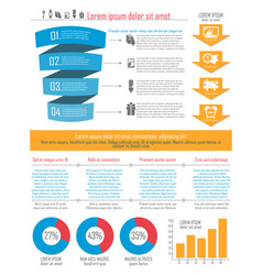 stylish infographics for your website or as a vector image