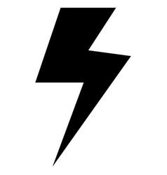 symbol electricity the black color icon vector image