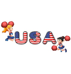 The USA cheering squad vector image vector image