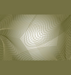 thin wavy lines green background vector image