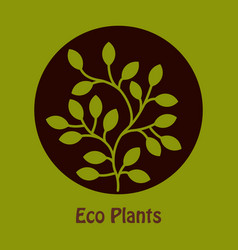 Tree in the circle text eco plants vector