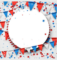 usa background with flags and stars vector image