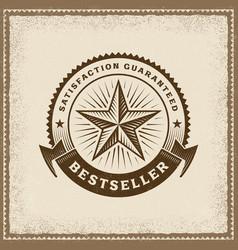 Vintage bestseller label vector