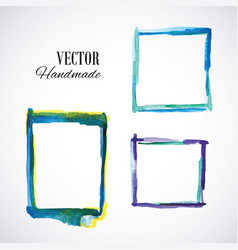 watercolor-frame-blue vector image
