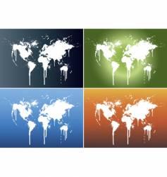 world splatter vector image