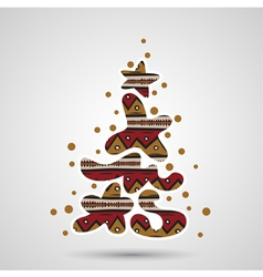 xmas tree - graffiti text vector image vector image