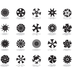 alloy wheel black vector image vector image