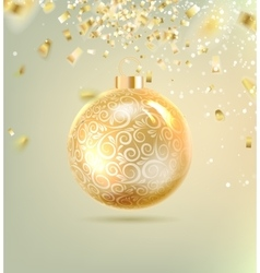 Christmas ball with curves vector image vector image