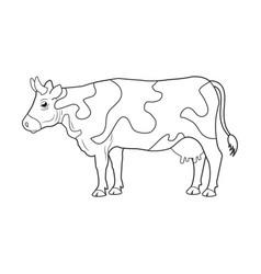 cow farm animal icon vector image vector image