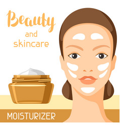 moisturizing cream beauty and skin care vector image