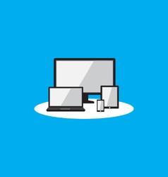 responsive display flat icon vector image vector image