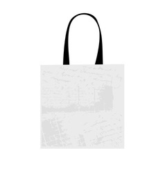 Shopping bag isolated with grunge pattern vector image